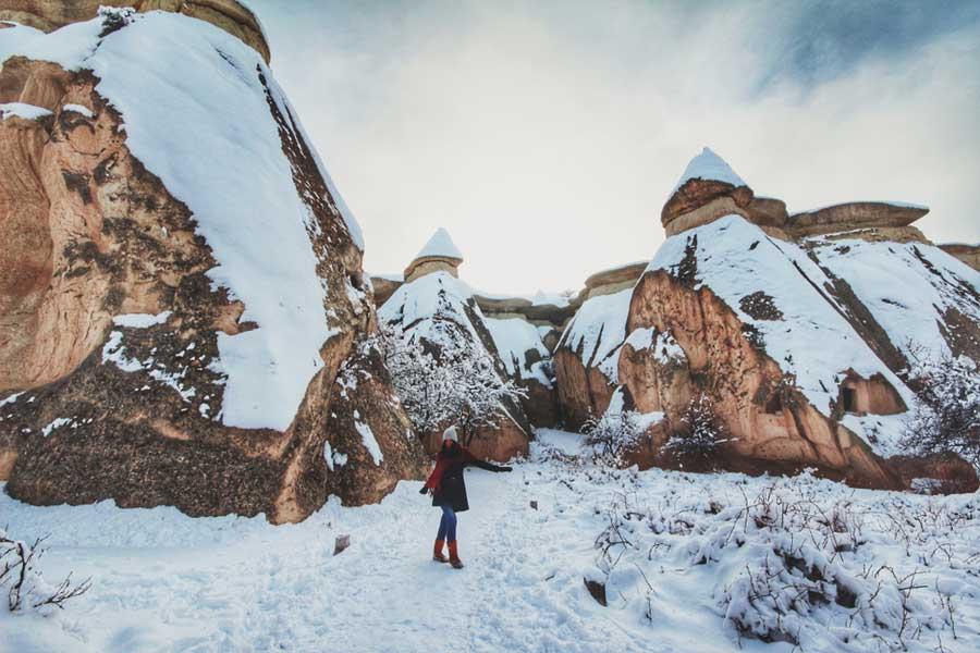 Cappadocia snowing