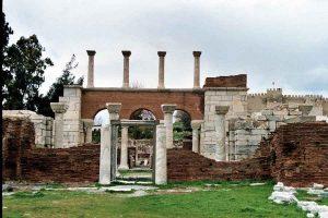 Ephesus-Selçuk_the_entrance_to_the_Basilica_of_St._John