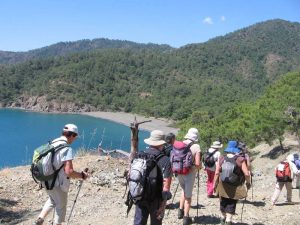Trekking group in Lycia
