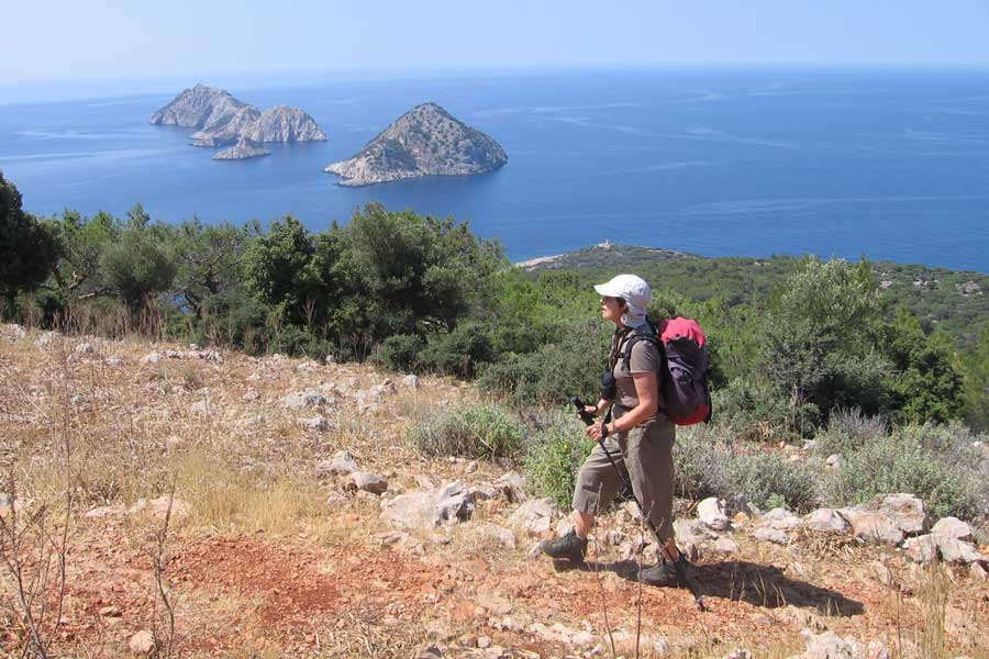 Rando en Lycie Lycia view over islands and kekova bay 2