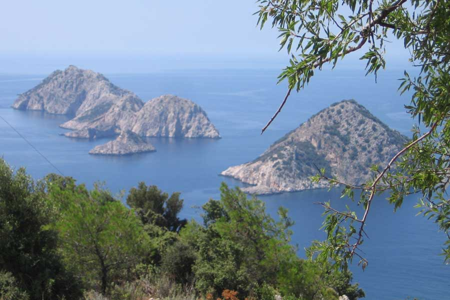 Rando en Lycie Lycia view over islands and kekova bay