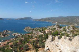 Rando en Lycieview of Kekova Bay from Simena Castle