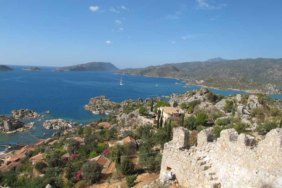 Rando en Lycieview of Kekova Bay from Simena Castle
