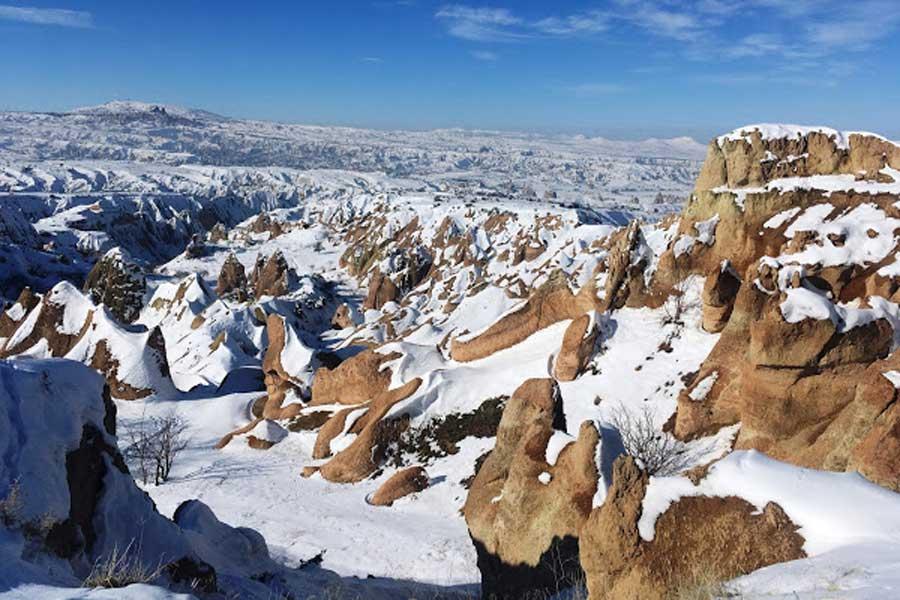 cappadocia under the snow